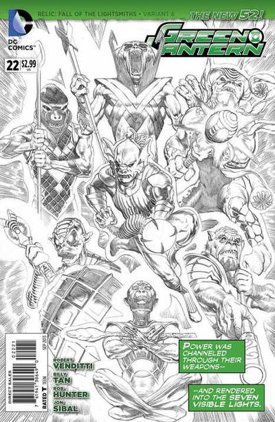 Cover for Green Lantern (DC, 2011 series) #22 [Combo Pack]