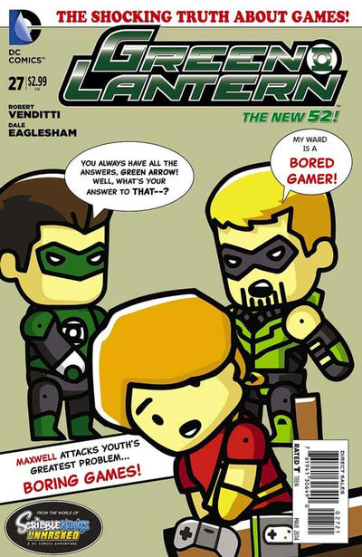 Cover for Green Lantern (DC, 2011 series) #27 [Scribblenauts Unmasked Variant Cover]