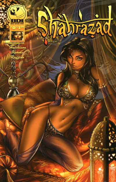Cover for Shahrazad (Big Dog Ink, 2013 series) #0 [Cover B - J. Scott Campbell]