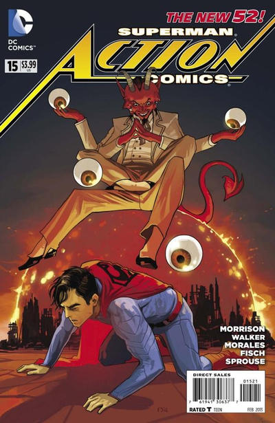 Cover for Action Comics (DC, 2011 series) #15 [Rags Morales Cover]