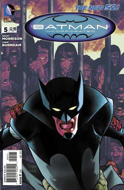 Cover for Batman Incorporated (DC, 2012 series) #5 [Frazer Irving Variant Cover]