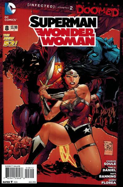 Cover for Superman / Wonder Woman (DC, 2013 series) #8 [Batman '66 Variant Cover]