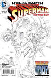 Cover for Superman (DC, 2011 series) #17 [Kenneth Rocafort Black & White Cover]