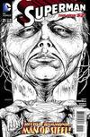 Cover for Superman (DC, 2011 series) #21 [Tyler Kirkham Black & White Cover]