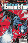 Cover for Blue Beetle (DC, 2011 series) #1 [2nd Printing - Red Background]