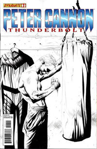 "Cover Thumbnail for Peter Cannon: Thunderbolt (Dynamite Entertainment, 2012 series) #1 [""Black & White"" Art Retailer Incentive - Jae Lee]"