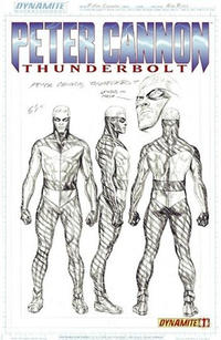 Cover Thumbnail for Peter Cannon: Thunderbolt (Dynamite Entertainment, 2012 series) #1 [Jetpack Comics Exclusive Sketch Cover - Alex Ross]