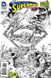 Cover Thumbnail for Superman (DC, 2011 series) #25 [Kenneth Rocafort Black & White Cover]