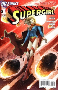Cover Thumbnail for Supergirl (DC, 2011 series) #1 [Second Printing]