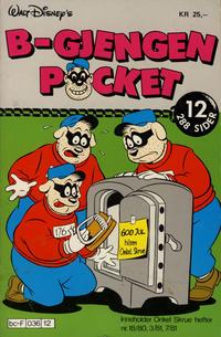 Cover Thumbnail for B-Gjengen pocket (Hjemmet / Egmont, 1986 series) #12