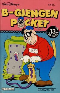 Cover Thumbnail for B-Gjengen pocket (Hjemmet / Egmont, 1986 series) #13 [Reutsendelse]