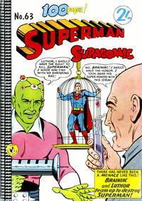 Cover Thumbnail for Superman Supacomic (K. G. Murray, 1959 series) #63