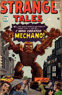 Cover for Strange Tales (Marvel, 1951 series) #86