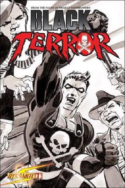 Cover for Black Terror (Dynamite Entertainment, 2008 series) #1 [John Romita Sr. Variant]