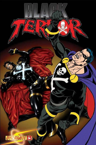 Cover for Black Terror (Dynamite Entertainment, 2008 series) #13 [Negative Effect Art Chase Cover]