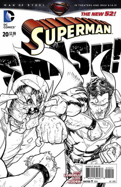 Cover for Superman (DC, 2011 series) #20 [Direct Sales]
