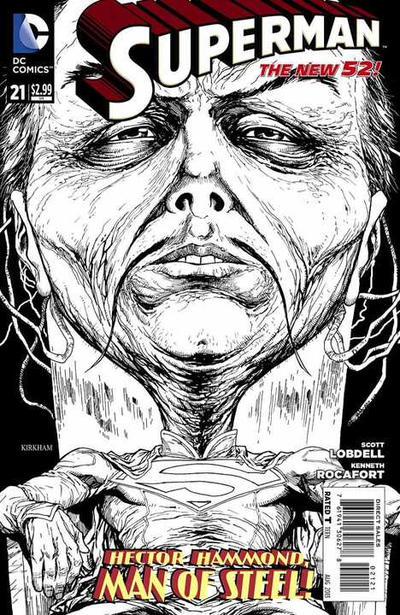 Cover for Superman (DC, 2011 series) #21 [Tyler Kirkham Black & White Cover]