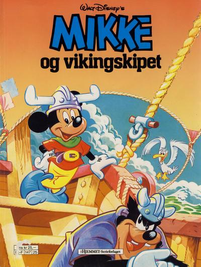 Cover for Mikke Mus Album (Hjemmet / Egmont, 1987 series) #[1] - Mikke og vikingskipet