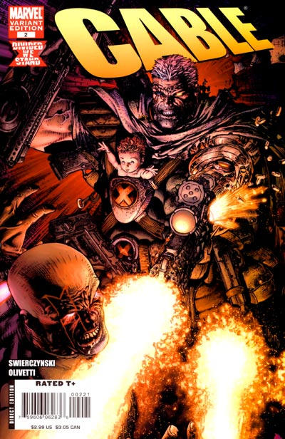 Cover for Cable (Marvel, 2008 series) #2 [Direct Edition]