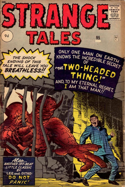 Cover for Strange Tales (Marvel, 1951 series) #95 [UK edition]