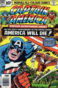 Cover Thumbnail for Captain America (Marvel, 1968 series) #200 [British]