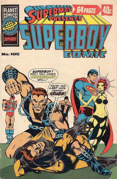 Cover for Superman Presents Superboy Comic (K. G. Murray, 1976 ? series) #105