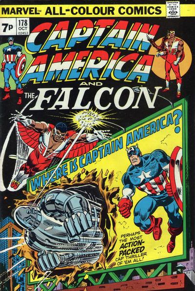 Cover for Captain America (Marvel, 1968 series) #178 [Regular Edition]