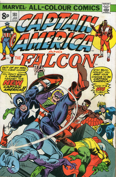 Cover for Captain America (Marvel, 1968 series) #181 [British]