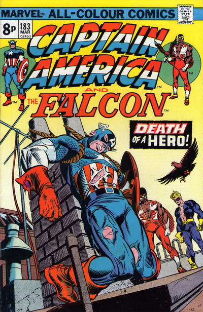 Cover for Captain America (Marvel, 1968 series) #183 [British]
