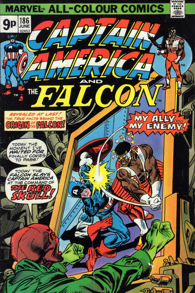 Cover for Captain America (Marvel, 1968 series) #186 [British]