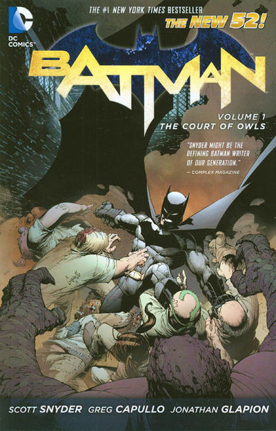 Cover for Batman (DC, 2013 series) #1 - The Court of Owls