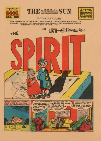 Cover for The Spirit (Register and Tribune Syndicate, 1940 series) #7/27/1941