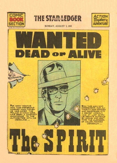 Cover for The Spirit (Register and Tribune Syndicate, 1940 series) #8/3/1941