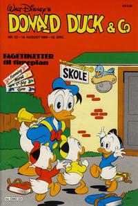 Cover Thumbnail for Donald Duck & Co (Hjemmet / Egmont, 1948 series) #33/1989