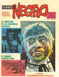 Cover Thumbnail for Dossier Negro (Ibero Mundial de ediciones, 1968 series) #72