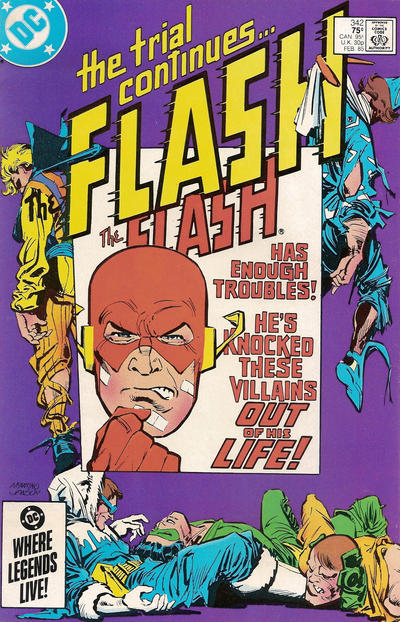 Cover for The Flash (DC, 1959 series) #342 [Direct Edition]