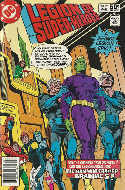Cover for The Legion of Super-Heroes (DC, 1980 series) #273 [Newsstand]