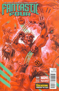 Cover Thumbnail for Fantastic Four (Marvel, 2013 series) #9 [Wolverine Through The Ages Variant by David Yardin]
