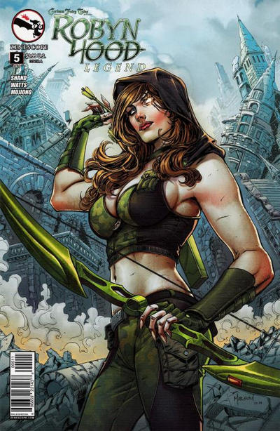 Cover for Grimm Fairy Tales Presents Robyn Hood: Legend (Zenescope Entertainment, 2014 series) #5 [Cover A - Abhishek Malsuni]