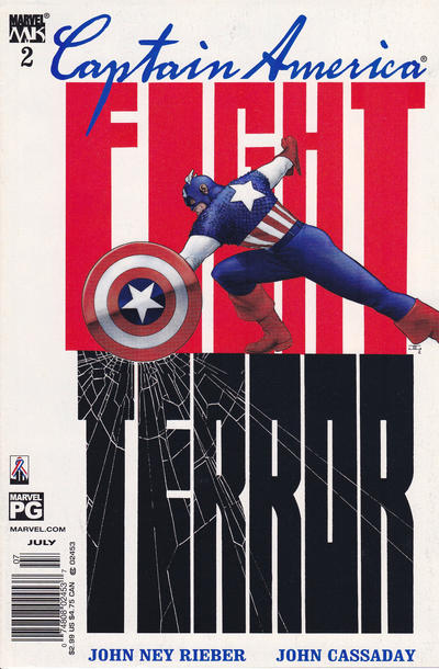 Cover for Captain America (Marvel, 2002 series) #2 [Direct Edition]