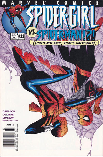 Cover for Spider-Girl (Marvel, 1998 series) #33