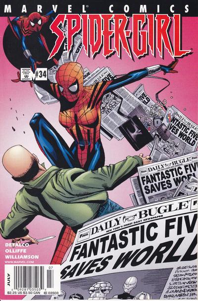 Cover for Spider-Girl (Marvel, 1998 series) #34