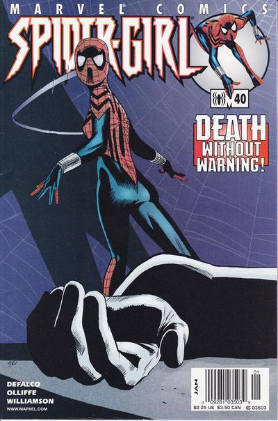 Cover for Spider-Girl (Marvel, 1998 series) #40