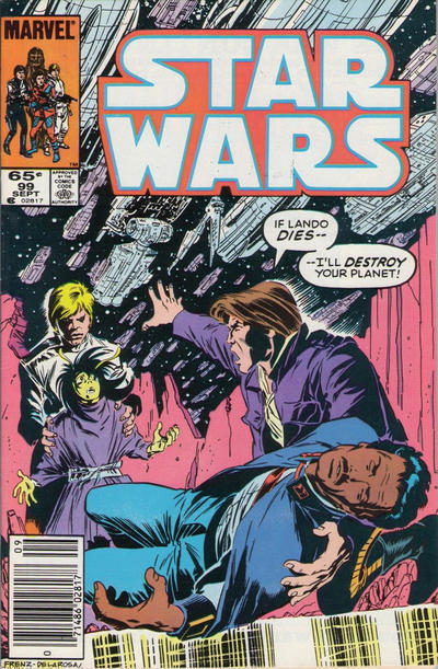 Cover for Star Wars (Marvel, 1977 series) #99 [Direct Edition]