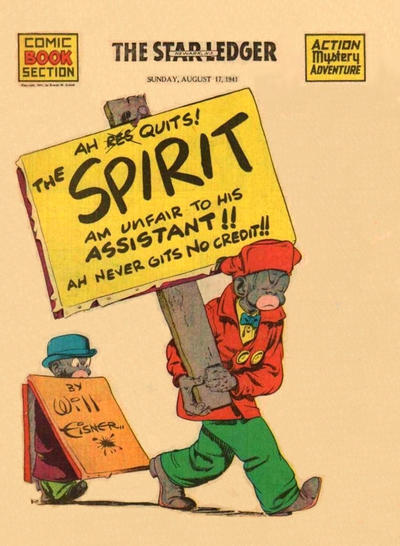Cover for The Spirit (Register and Tribune Syndicate, 1940 series) #8/17/1941