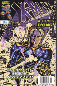Cover for X-Man (Marvel, 1995 series) #43 [Direct Edition]