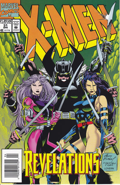 Cover for X-Men (Marvel, 1991 series) #31 [Direct Edition]