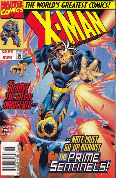 Cover for X-Man (Marvel, 1995 series) #30 [Newsstand Edition]