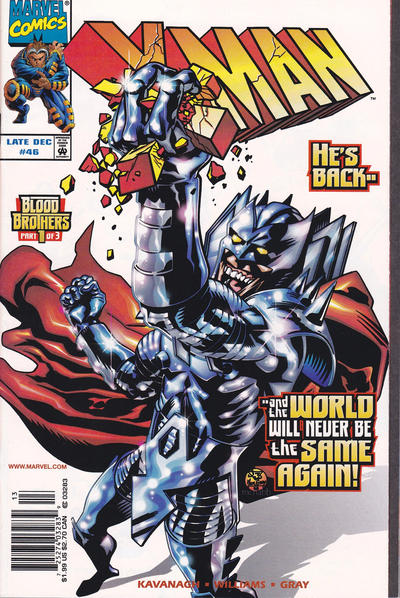 Cover for X-Man (Marvel, 1995 series) #46 [Direct Edition]