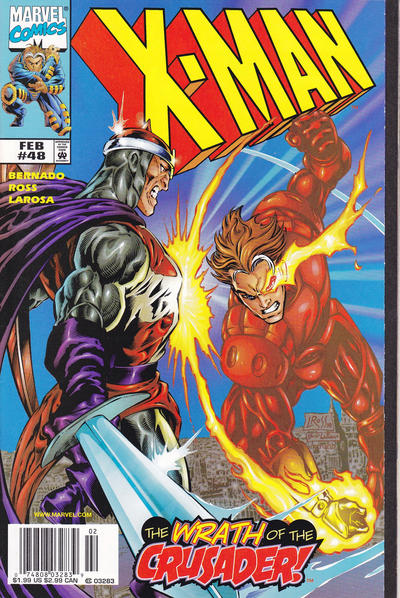 Cover for X-Man (Marvel, 1995 series) #48 [Direct Edition]